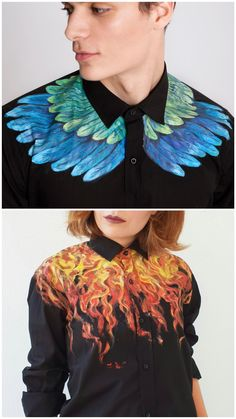 Fashion Tips For Teens Crop Tops Artist paints amazing creative designs on the clothes Diy Fashion, Fashion Outfits, Womens Fashion, Fashion Tips, Fashion Design, Fashion Trends, Fashion Hacks, Painted Jeans, Painted Clothes