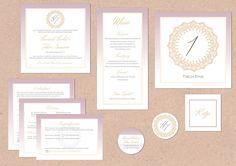 Juhu Papeterie, Karlsruhe, Hochzeitsset, Pocketfold, Einladung, Hochzeitseinladung, altrose, rosa, gold, elegant, klassisch, schick, modern, Ornament, menükarte, einladungskarge, Hochzeit, Einleger, Anhänger, Adressaufkleber, rund, quadratisch