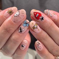 Untitled March 09 2020 at nails Minimalist Nails, Nail Swag, Aycrlic Nails, Hair And Nails, Bling Nails, Nagel Tattoo, Mens Nails, Funky Nails, Fire Nails