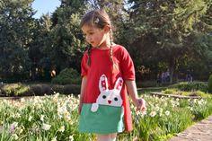 Rabbit Dress,bunny dress, Easter dress,Easter bunny,Girls dress,Easter outfit,Infant dress,Easter bunny dress,girls easter dress