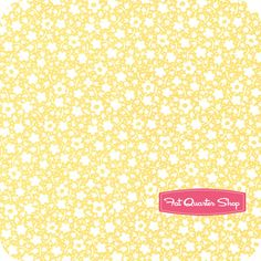 Pam Kitty Morning Yellow Powder Puffs Yardage SKU# LH11009-YELLOW