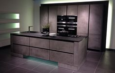 Zeyko Kitchen with front in concrete optic. Picture from Küchenmeile 2013.