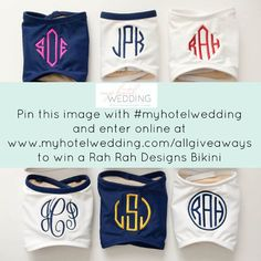 Enter our giveaway and you could win a custom monogrammed bikini from @rahrahdesigns!