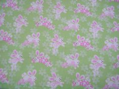 Easter Padded Table Runner - Bunnies on Green - Great decoration for your Easter Table!