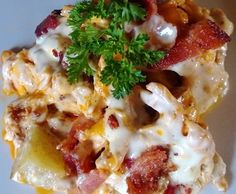 Hot Wing Chicken Casserole  Sounds yummy and comforting!