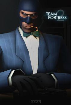 Team Fortress 2: Spy Poster [Casino Royale] by *KlausHeissler on deviantART