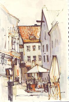 AnnA Egida - line & wash travel sketching