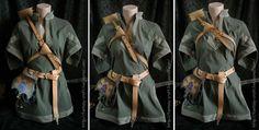 Art Nouveau leather archer set by ~I-TAVARON-I on deviantART