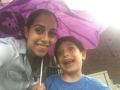Caught in the rain? Thank you G.W. for submitting this adorable picture of your FLARED umbrella in use!  #rain #auto #umbrella #storm #emergency