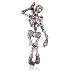 EVER FAITH Vintage Style Black-Tone Austrian Crystal Halloween Skull Brooch Clear AB http://www.amazon.com/dp/B00QWCCX8M/ref=cm_sw_r_pi_dp_GNjUvb02M3S9S