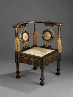 Corner Chair Carlo Bugatti, 1895-1902 The Royal Ontario Museum