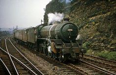 61050 (Canklow) passes on a van train near Heeley. Diesel Locomotive, Steam Locomotive, Steam Art, Flying Scotsman, Steam Railway, Standard Gauge, Train Art, British Rail, Steam Engine