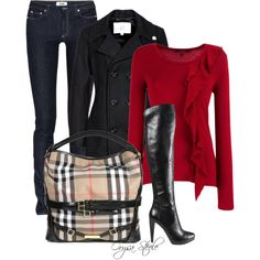 """Crimson Chic"" by orysa on Polyvore"