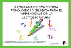 programa conciencia fonológica_web Literacy, Acting, Activities, Audio, Alphabet, Learning, Autism Classroom, Dyslexia, Learning To Write
