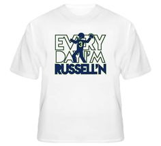 Everyday Im Russelling Russell Wilson Seattle Qb Wisconsin Football T Shirt