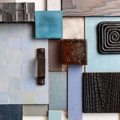 Gathering architectural materials for a new project. Colour Schemes, Color Trends, Color Palettes, Caribbean Restaurant, Architectural Materials, Hardware Jewelry, Material Board, Kelly Wearstler, Visual Merchandising