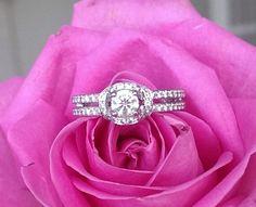 Hearts on Fire Diamond Optima Double Row Halo Engagement Ring Fine Jewelry, Jewellery, Fire Heart, Halo Engagement, Bvlgari, Luxury Jewelry, Luxury Branding, Diamond Jewelry, The Row