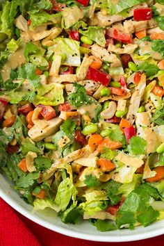 Thai Chicken Salad with Orange Peanut Dressing - this salad was seriously delicious!! I'm going to crave it all the time now!
