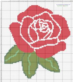 Dibujos Punto de Cruz Gratis: Flores Filet Crochet Charts, Crochet Diagram, Knitting Charts, 123 Cross Stitch, Cross Stitch Flowers, Cross Stitch Alphabet Patterns, Cross Stitch Designs, Cross Stitching, Cross Stitch Embroidery