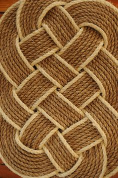 How To Weave A Rope Mat Rope Rug Belt And Ties