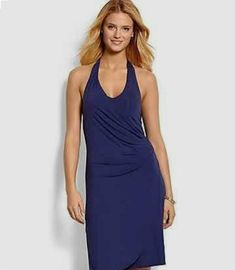 fb161f7f28 Tommy Bahama Women's size S Tambour Shirred Purple Halter Dress Sleeveless  15K #TommyBahama #Casual