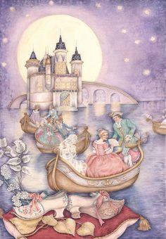 """""""Le scarpette logore dal ballo"""" F. Grimm By Lucia Campinoti   per Edimedia"""