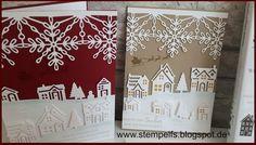 Susanne Kiehn unabhängige Stampin' Up! Demonstratorin (home crafts homemade) Christmas Cards 2017, Stamped Christmas Cards, Christmas Hearts, Stampin Up Christmas, Christmas Settings, Xmas Cards, Holiday Cards, Christmas Houses, Christmas Trees