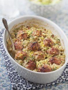 Boulettes de porc au chou et quinoa