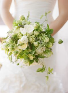 green and white bouquet by Shawn Cosette of Beehive Events Lilac Wedding Flowers, Green Wedding, Floral Wedding, Wedding Colors, Wedding Bouquets, Wedding Ideas, Green Flowers, Gold Wedding, White Flowers