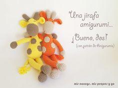 mis nancys, mis peques y yo, pareja jirafa amigurumi