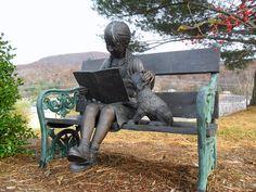 Ashe County Public Library statue