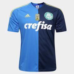 Camisa Adidas Palmeiras III 2016 s/nº - Patch Campeão Brasileiro - Azul