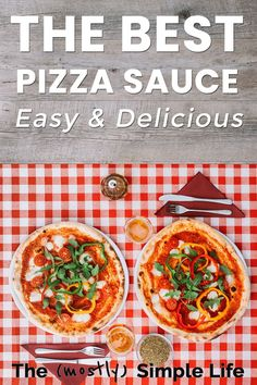 Last week I shared my favorite homemade pizza crust recipe, so now we need the sauce! The Best Homemade Pizza Dough Recipe, Making Homemade Pizza, Easy Meal Prep, Quick Easy Meals, Good Pizza, Kids Pizza, Meal Planning Printable, Batch Cooking, Low Sugar