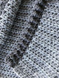 12 Month Crochet Hoodie Edging