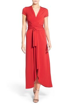 MICHAEL MICHAEL KORS Jersey Wrap Maxi Dress. #michaelmichaelkors #cloth #