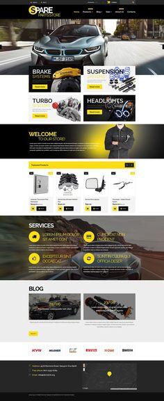 12+ Best Car & Automotive Shopify Ecommerce Themes - Auto Parts Store (theme for Shopify) Item Picture