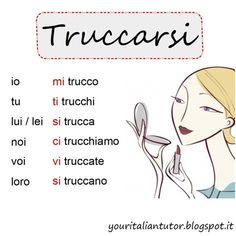 Verb of the day: TRUCCARSI (to put on, to wear make-up)