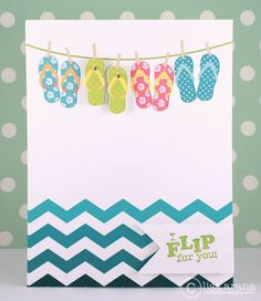 Love the flip flops pinned on the line and the cool chevron water