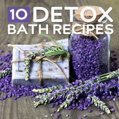 10 Bath Detox Recipes  #blogmarketing