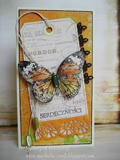 Gallery of handicrafts: Pomarańczowa kartka