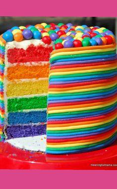 Rainbow candy cake ^•^