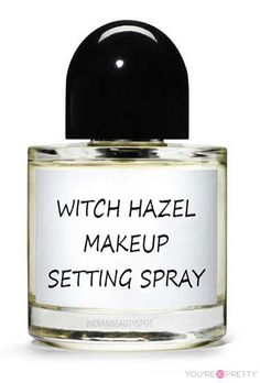 Witch Hazel Makeup Setting Spray | This would be perfect for any makeup. | Life Hacks for girls from youresopretty.com #LifeHacks #youresopretty