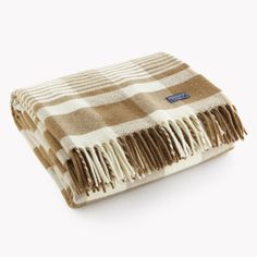 Inspired by a historic pattern from the 1920's we discovered in the mill's archives, the Faribault Plaid throw is a contemporary plaid throw updated from the traditional check to be a bit more modern,