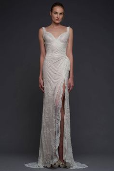 Will the Church allow high slit in gown?? Fall 2015 Wedding Dresses - Best Wedding Gowns At Bridal Fashion Week - Elle