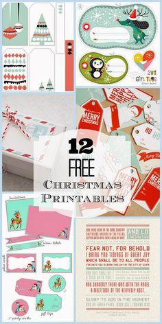 Harris Sisters GirlTalk: 12 Free Christmas Printables