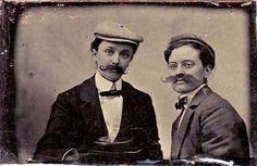 Ladies dressed as gents; old tintype