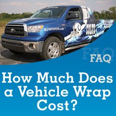 TKO Graphix #FAQ Blog Post • How Much Does A #VehicleWrap Cost?