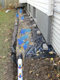FAZIO WATERPROOFING Foundation waterproofing and leak repair in Albany & Schenectady NY. Solutions for wet leaky walls, leaking wall cracks, & foundation drainage. Gutter Drainage, Backyard Drainage, Landscape Drainage, Foundation Drainage, Foundation Repair, House Foundation, Basement Repair, Wet Basement, Backyard Projects