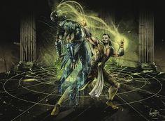 Your Soul Is Mine, #Drawings, #FanArt, #Games, #Mortal_Kombat, #Shang_Tsung, #Sub_Zero, #Villain