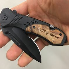 Personalize pocket knife with name or monogram, perfect gift for any man! Anniversary, birthday, graduation, camping trips and more!